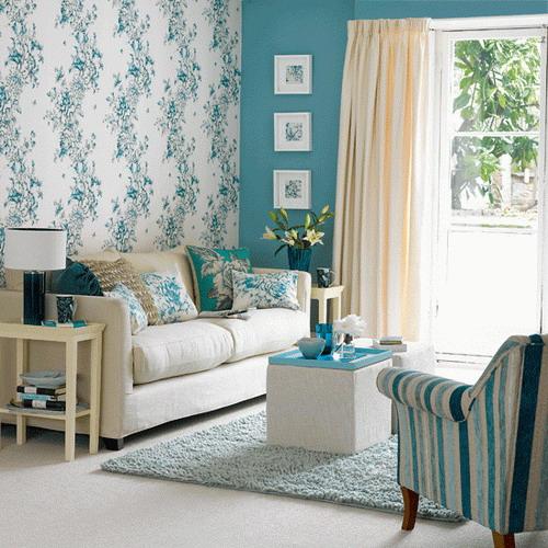 Beach-style-interior-decorating-living-room-wallpaper-ideas ...