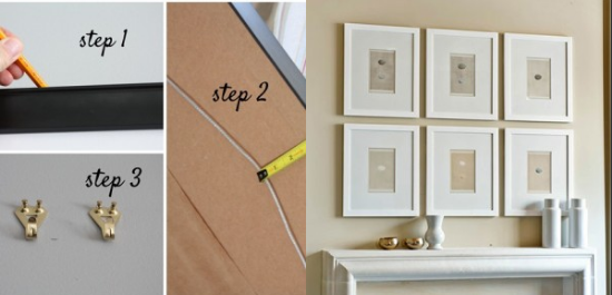Easy Way To Hang Frames 03